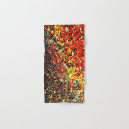 END OF THE RAINBOW - Bold Multicolor Abstract Colorful Nature Inspired Sunrise Sunset Ocean Theme Hand & Bath Towel