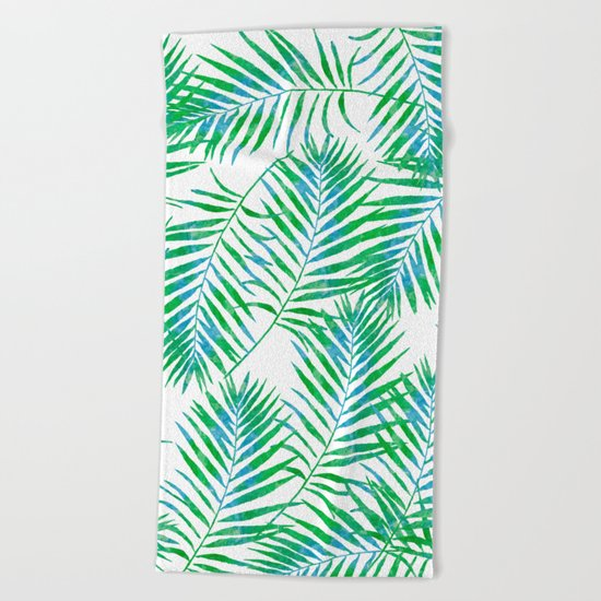 Fern Leaves Beach Towel