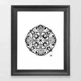 Compass Mandala Framed Art Print