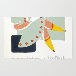 Vintage poster - Little Miss Muffet Rug
