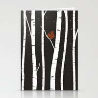 birch Stationery Cards featuring Birch by LauraTolton