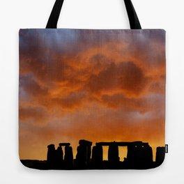 Stonehenge Sunrise, Wiltshire Tote Bag