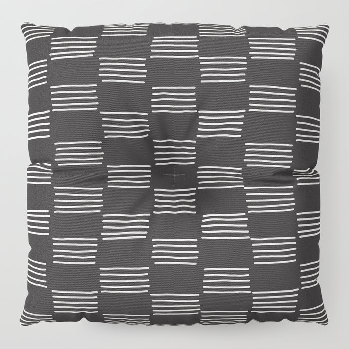 hatches – almost black and white Floor Pillow