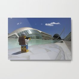 TLP at The Valencia Arts and Science Building Metal Print
