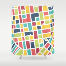 Lancaster, PA Block Map Shower Curtain