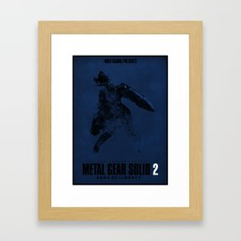 Metal Gear Solid 2 Sons Of Liberty Metal Gear Ray Digital Fan Art Ink-Blot Framed Art Print