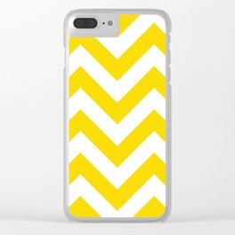 Large chevron pattern / gold (color) Clear iPhone Case