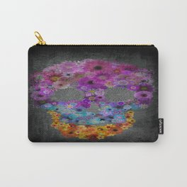 Sugar Skull Made Of Flowers Carry-All Pouch