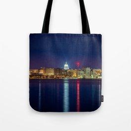 Madison at Night Tote Bag
