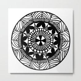 Black and White Papercut circle Metal Print