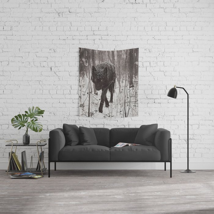 Snow Wolf Wall Tapestry