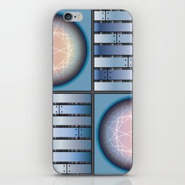 Cube 3 - Board in Blue iPhone Skin