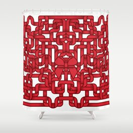 Little Red Ribbon Shower Curtain