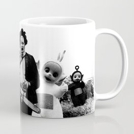 Leatherface with Teletubbies Coffee Mug