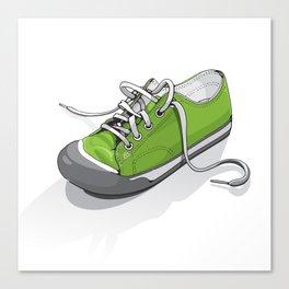 A Green Shoe Canvas Print