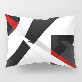 Black and white meets red version 26 Pillow Sham