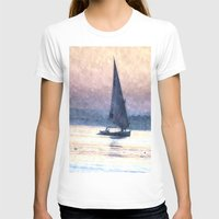 water colour T-shirts featuring Felucca Water Colour by Brian Raggatt