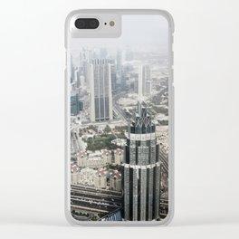 Dubai city landscape Clear iPhone Case