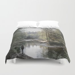 All the Drops form a River - landscape photography Duvet Cover