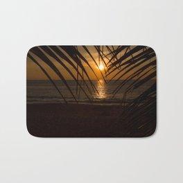 Sunset on the sea Bath Mat