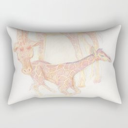 Giraffe, Mama and Baby Rectangular Pillow