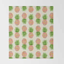 Pineapple or Pot Throw Blanket