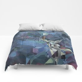 geometric forest Comforters