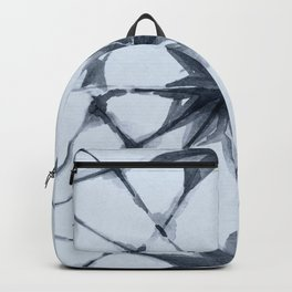 Shibori Starburst Indigo Blue on Sky Blue Backpack