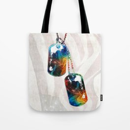 Military Art Dog Tags - Honor - By Sharon Cummings Tote Bag