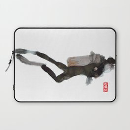Scuba Diver Watered Down Laptop Sleeve