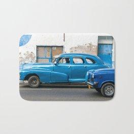 Vintage Blue Cars Bath Mat