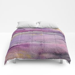 Moonglow Gold Abstract Painting Comforters