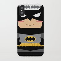 superhero iPhone & iPod Cases featuring Superhero by Xiao Twins