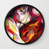 cuddle Wall Clocks featuring Cuddle Time by Travis Clarke