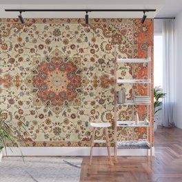 N71 - Orange Antique Heritage Traditional Moroccan Style Mandala Artwork Wall Mural