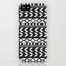 Black & White Pattern iPhone Case