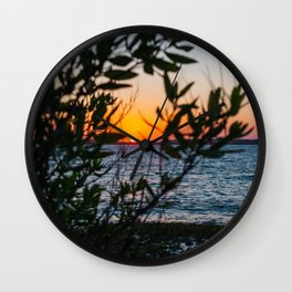 Peeking Through Wall Clock