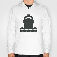 ship Hoodies featuring Ship by Alejandro Díaz