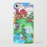 animal crossing iPhone & iPod Cases featuring Animal crossing invasioni  by Cristina Lunat Sugamele