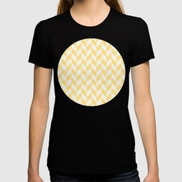 Yellow & Cream Summer Chevron Pattern with Half Arrows T-shirt