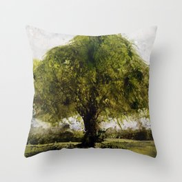 Study of a small tree in Suffolk  Throw Pillow