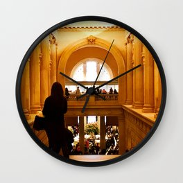 Halls of History Wall Clock