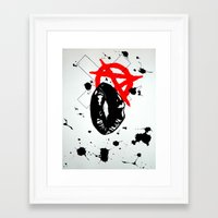 anarchy Framed Art Prints featuring Anarchy by Mike Lampkin