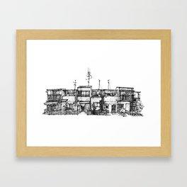 Urban space - Row of shops #3 Framed Art Print