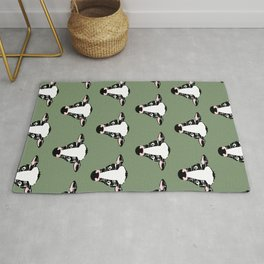 Cute Cow Face pattern Rug