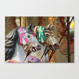 Vintage Carousel Horses Canvas Print