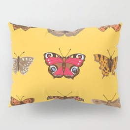 Butterflies Mounted on Yellow Pillow Sham