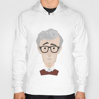 woody allen Hoodies featuring Woody Allen by Alexander Kuzmin