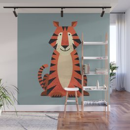 Whimsy Tiger Wall Mural