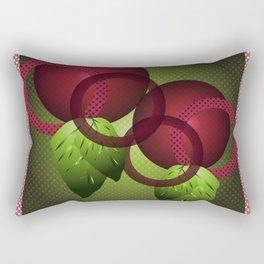 Raspberry with Basil Rectangular Pillow